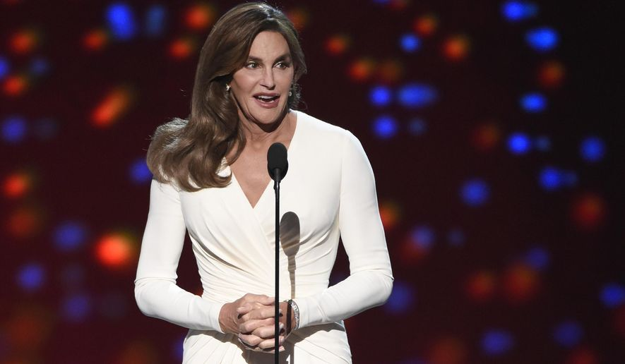 FILE - In this July 15, 2015 file photo, Caitlyn Jenner accepts the Arthur Ashe award for courage at the ESPY Awards at the Microsoft Theater, in Los Angeles. Los Angeles Superior Court Judge Gerald Rosenberg approved Jenner's name and gender change during a brief hearing in Santa Monica, Calif., on Friday,  Sept. 25. (Photo by Chris Pizzello/Invision/AP, File)