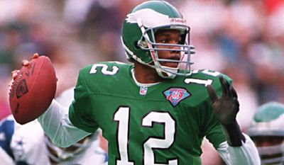 Randall Cunningham was selected in the second round of the 1985 NFL Draft.  Which uniform did he not wear?