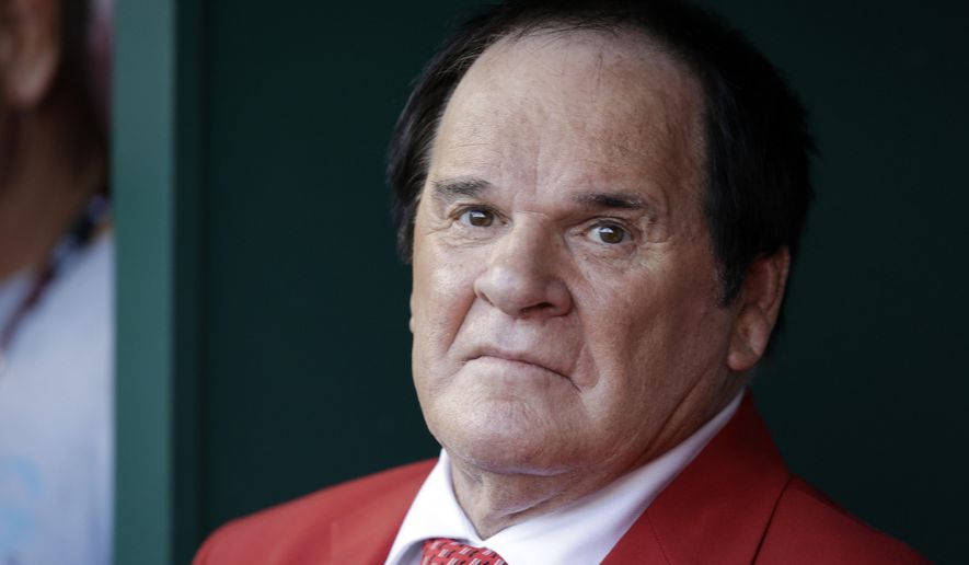"FILE - In this July 14, 2015, file photo, Pete Rose waits to be introduced before the MLB All-Star baseball game in Cincinnati. Pete Rose has made his case for reinstatement with Commissioner Rob Manfred, who promised a decision by the end of December. Major League Baseball said the meeting with the career hits leader and his representatives took place Thursday, Sept. 24, 2015, at baseball's headquarters in New York. ""Commissioner Manfred informed Mr. Rose that he will make a decision on his application by the end of the calendar year,"" MLB said in a statement. (AP Photo/John Minchillo)"