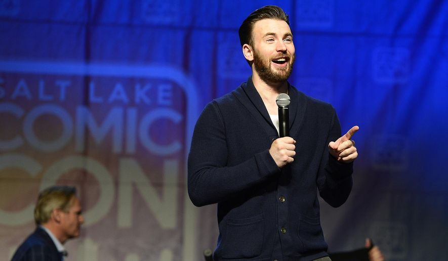 "Actor Chris Evans speaks during a panel at Comic Con in Salt Lake City on Saturday, Sept. 26, 2015. On Saturday, Evans said that he was ""riddled with foolish, foolish, regrettable insecurity"" when he played the Captain America role for the first time. (Scott Sommerdorf/The Salt Lake Tribune via AP)"