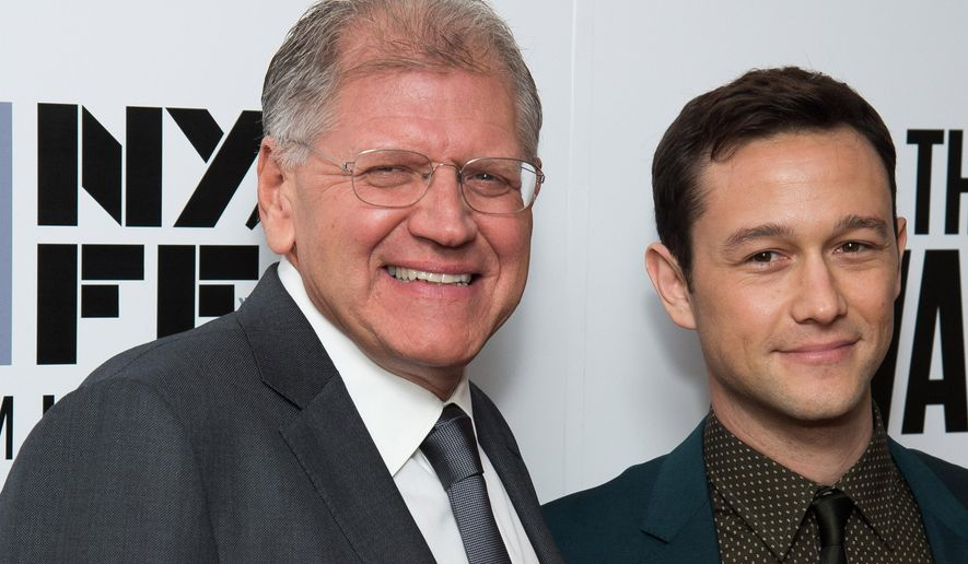 "Robert Zemeckis, left, and Joseph Gordon-Levitt attend the New York Film Festival opening night gala premiere for ""The Walk"" at Alice Tully Hall on Saturday, Sept. 26, 2015, in New York. (Photo by Charles Sykes/Invision/AP)"
