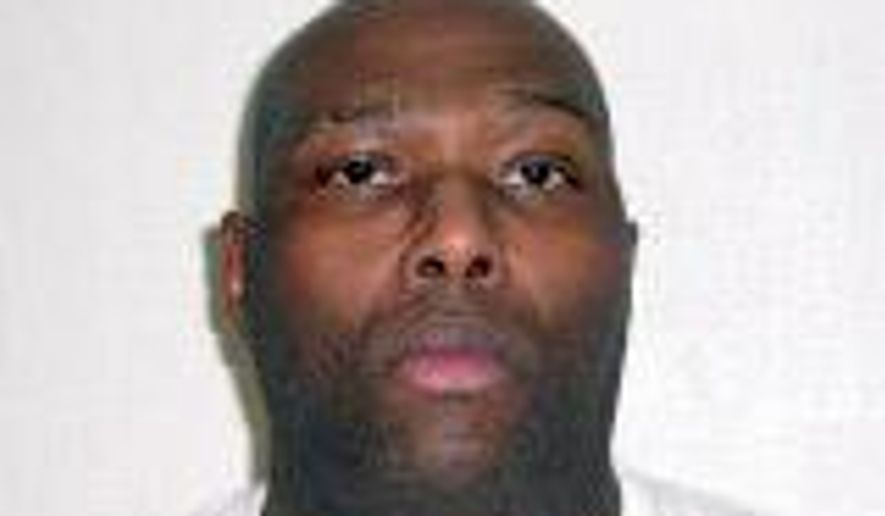 This undated handout photo provided by the Arkansas Department of Correction shows Stacey Johnson. Johnson is one of two Arkansas inmates scheduled to be executed on Nov. 3, 2015, who has applied for executive clemency. Board spokesman Solomon Graves said the second inmate Terrick Nooner, did not file an application by the noon deadline Monday, Sept. 28. (Arkansas Department of Correction via AP)
