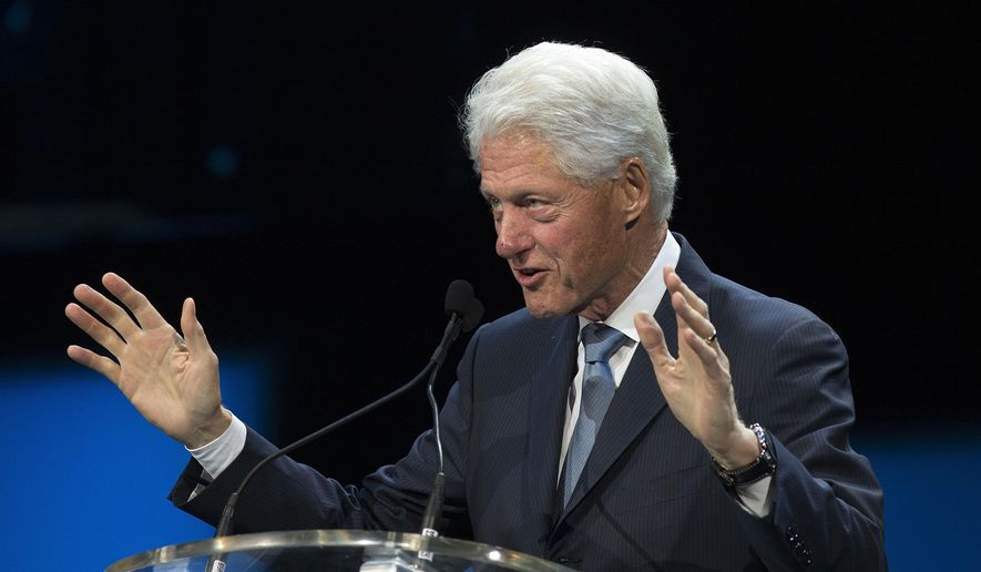 President Bill Clinton speaks in New Orleans in this Aug. 29, 2015, file photo. (AP Photo/Max Becherer. File)