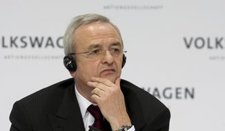 In this March 12, 2009, file photo Martin Winterkorn, chairman of the board of the Volkswagen group, during the annual press conference in Wolfsburg, northern Germany. Prosecutors said Monday, Sept. 28, 2015, they are opening investigations against Winterkorn on the suspicion of fraud by selling cars with with manipulated emission tests. (AP Photo/Joerg Sarbach)