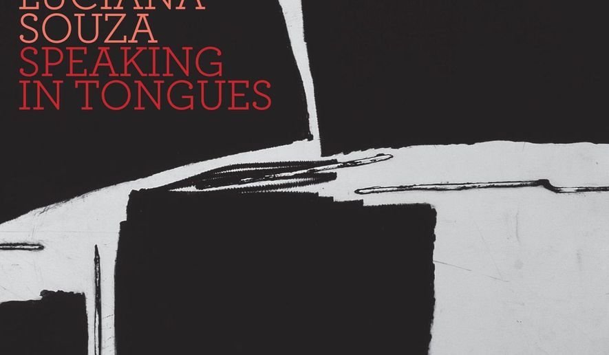 "This CD cover image released by Sunnyside Records shows, ""Speaking in Tongues,"" the latest release by Luciana Souza. (Sunnyside Records via AP)"