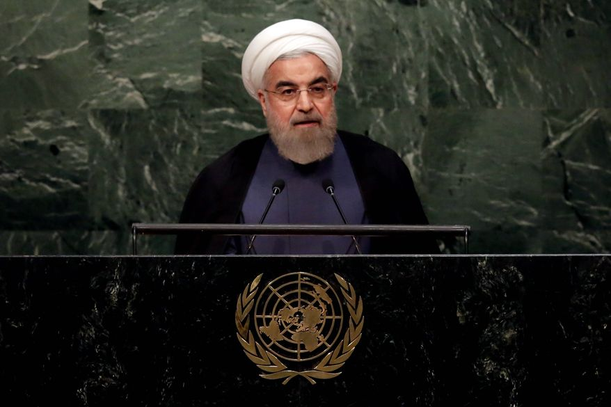 Isolated: Iranian President Hassan Rouhani hinted at a desire to join the world community.