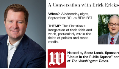 Join us this Wednesday night at 8PM EST for a lively conversation with conservative activist and radio host Erick Erickson.