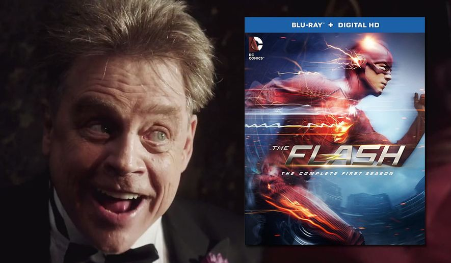 Mark Hamill returns as The Trickster in The Flash: The Complete First Season from Warner Home Video, now available in Blu-ray.