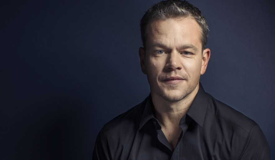 "In this Sept. 11, 2015 photo, Matt Damon poses for a portrait in promotion of his upcoming role in ""The Martian"" at the 2015 Toronto International Film Festival in Toronto. (Photo by Victoria Will/Invision/AP)"