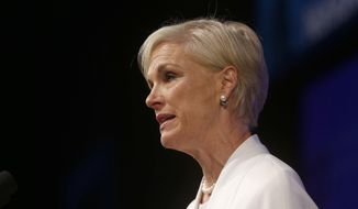 Planned Parenthood Federation of America President Cecile Richards speaks in Washington, in this April 26, 2014, file photo. (AP Photo/Charles Dharapak)