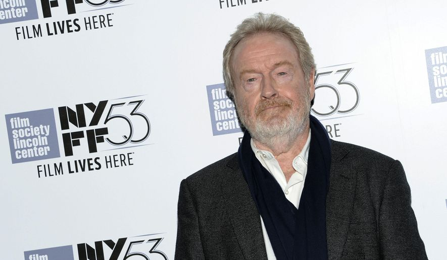 """Director Ridley Scott attends a special screening of """"The Martian"""" during the New York Film Festival on Sunday, Sept. 27, 2015, in New York. (Photo by Evan Agostini/Invision/AP)"""