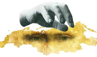 Illustration on the Putin kleptocracy in Russia by Alexander Hunter/The Washington Times