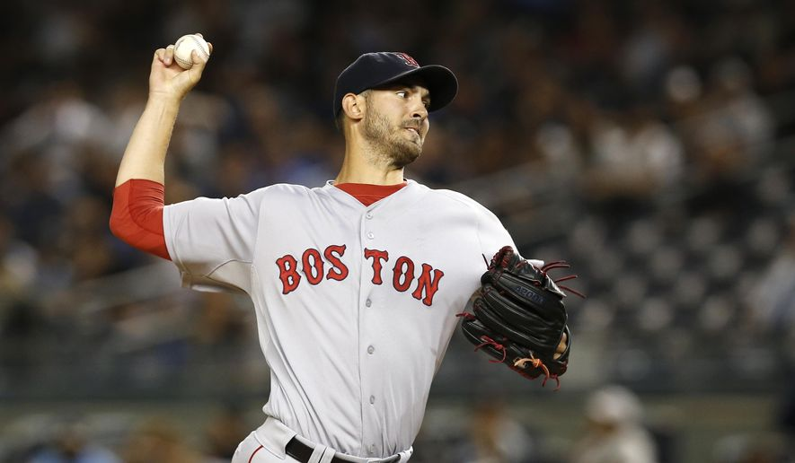 Boston Red Sox pitcher Rick Porcello delivers in the first inning of a baseball game against the New York Yankees in New York, Tuesday, Sept. 29, 2015.  (AP Photo/Kathy Willens) **FILE**