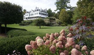 A Monday, Sept. 28, 2015, photo shows The Mount, the home of writer Edith Wharton, in Lenox, Mass. The Mount, announced Monday that it is debt-free, seven years after defaulting on a loan and nearly shutting its doors. (Ben Garver/The Berkshire Eagle via AP)