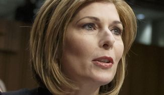 Reporter Sharyl Attkisson testifies before the Senate Judiciary Committee on the confirmation of President Barack Obama's nomination of Loretta Lynch to be attorney general, on Capitol Hill in Washington, Jan. 29, 2015. (AP Photo/J. Scott Applewhite) ** FILE **