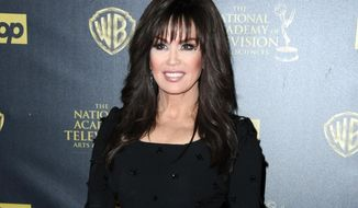 "FILE - In this April 26, 2015 file photo, Marie Osmond, former contestant on the celebrity dance competition series, ""Dancing With the Stars,"" poses in the pressroom at the 42nd annual Daytime Emmy Awards at Warner Bros. Studios in Burbank, Calif. Osmond is one of many contestants who have injured themselves, either on, or rehearsing for the show. (Photo by Richard Shotwell/Invision/AP, File)"