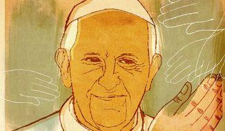 Illustration on Pope Francis' U.S. visit by Donna Grethen/Tribune Content Agency