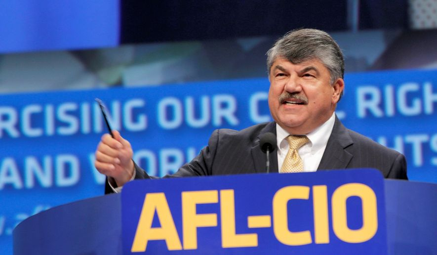 AFL-CIO President Richard Trumka proudly declared in 2012 that President Obama would never have won key swing states without the force of organized labor's election-related efforts on his behalf. (Associated Press)