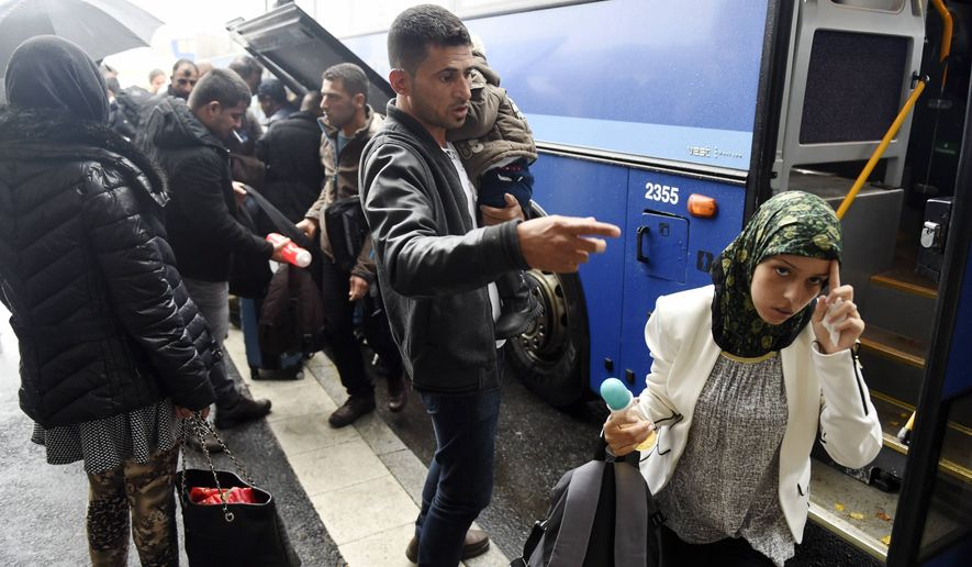 Refugees arrive in Tornio, northwestern Finland. Finland, on the northeastern frontier of the EU, in this Thursday, Sept. 18, 2015, file photo. (Jussi Nukari/Lehtikuva via AP)