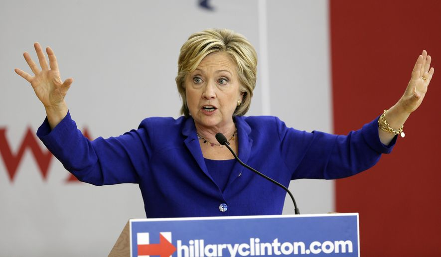 Democrats and Republicans alike accused Hillary Rodham Clinton of a political flip-flop of historic proportions, but she said the evidence is that the deal President Obama finalized falls short of her goals. (Associated Press)