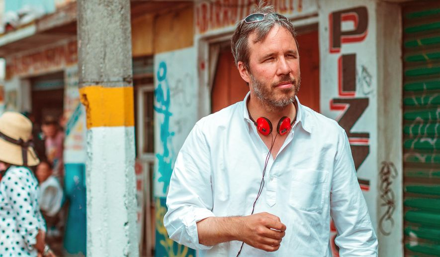 "In this image released by Lionsgate, director Denis Villeneuve appears during the filming of ""Sicario."" (Luis Ricardo Montemayor Cisneros/Lionsgate via AP)"