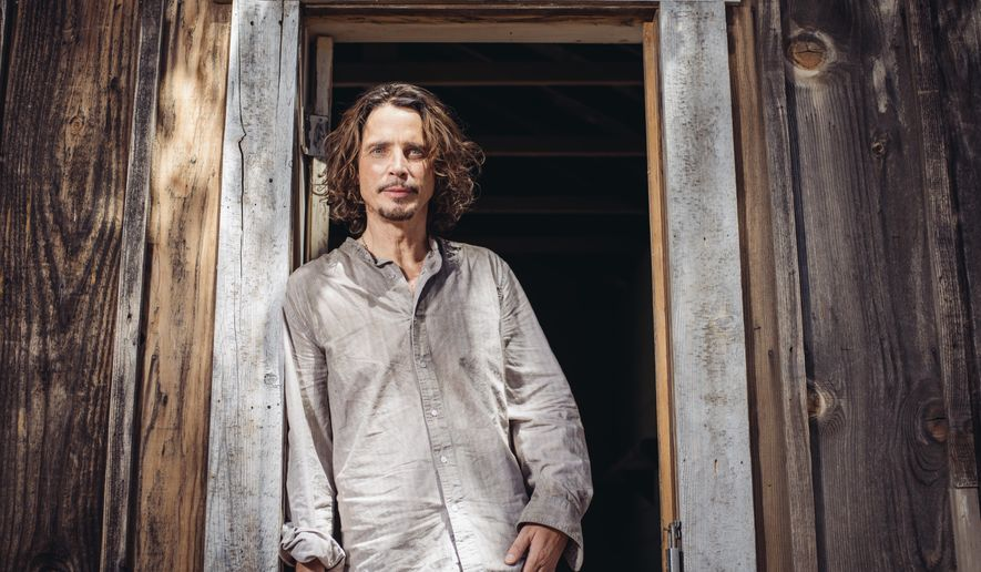 "In this July 29, 2015 photo, Chris Cornell poses for a portrait to promote his latest album, ""Higher Truth,"" at The Paramount Ranch in Agoura Hills, Calif. (Photo by Casey Curry/Invision/AP)"