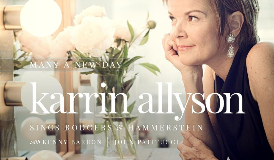 "This CD cover image released by Motema Music shows ""Many A New Day: Karrin Allyson Sings Rodgers & Hammerstein,"" by Karrin Allyson. (Motema Music via AP)"