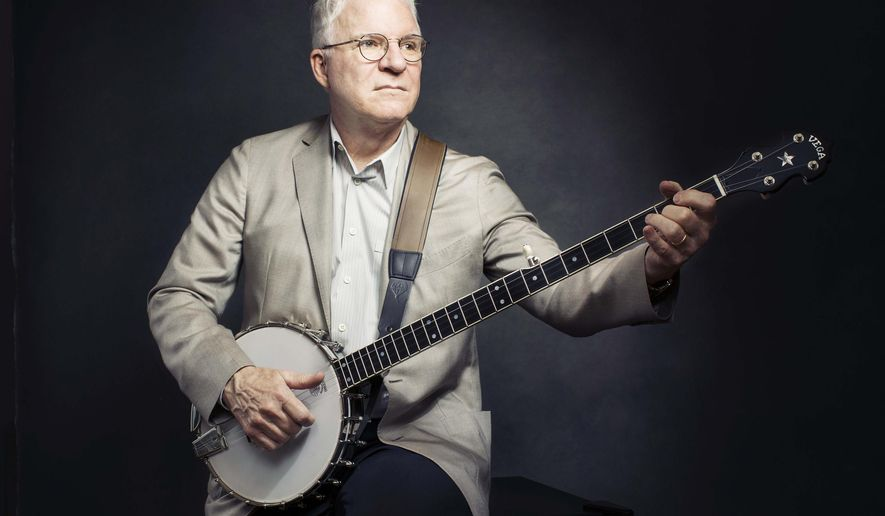 "In this Sept. 2, 2015 photo, Steve Martin poses for a portrait in New York to promote his new album ""So Familiar,"" with Edie Brickell.  (Photo by Victoria Will/Invision/AP)"