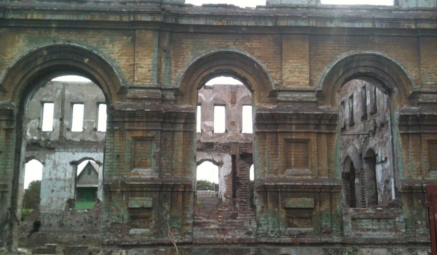 The shell of pre-revolutionary building in Mariupol, Ukraine. (Photo by L. Todd Wood)