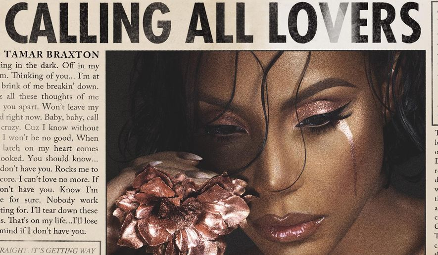 "This CD cover image released by Epic Records shows,""Calling All Lovers,"" the latest release by Tamar Braxton. (Epic Records via AP)"