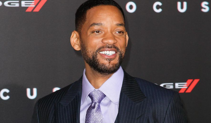 "In this Feb. 24, 2015, file photo, Will Smith arrives at the world premiere of ""Focus"" in Los Angeles.
