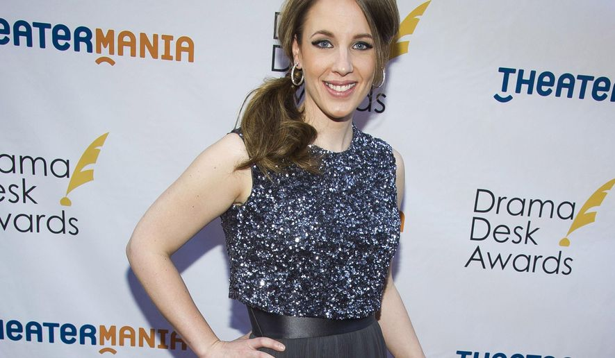 "FILE - In this June 1, 2014 file photo, Jessie Mueller attends the Drama Desk Awards in New York. Theater producers Barry and Fran Weissler said Friday, Oct. 2, 2015, that the Tony Award-winning Mueller will star in the musical adaptation of the 2007 film ""Waitress"" with songs by pop star Sara Bareilles. Mueller won the best leading actress in a musical Tony last year for playing Carole King in the musical ""Beautiful.""  (Photo by Charles Sykes/Invision/AP, File)"