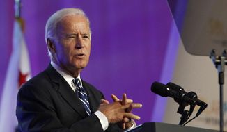 Vice President Joe Biden speaks in Anaheim, Calif., in this Sept. 16, 2015, file photo. (AP Photo/Christine Cotter, File)