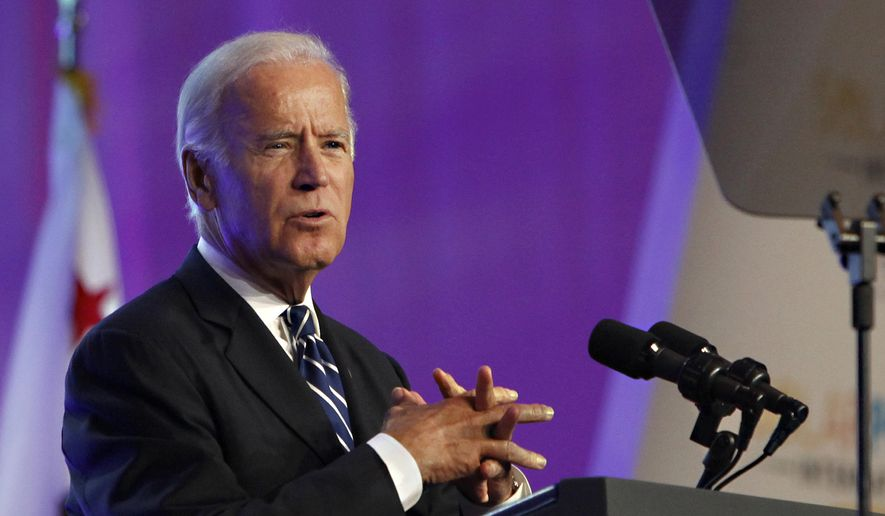 Vice President Joe Biden speaks in Anaheim, Calif., in this Sept. 16, 2015, file photo. (AP Photo/Christine Cotter, File)