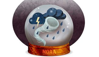 Government Bureaucracy Predicting the Weather Illustration by Greg Groesch/The Washington Times