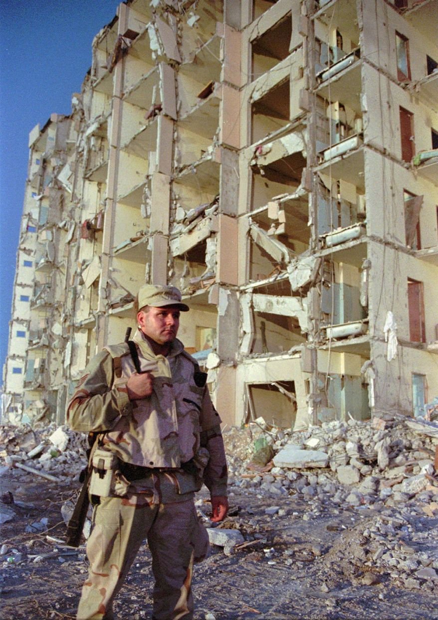 New evidence suggests Iran and Hezbollah colluded to hide a suspect in the 1996 Khobar Towers bombing that killed 19 U.S. servicemen and wounded hundreds. (Associated Press)