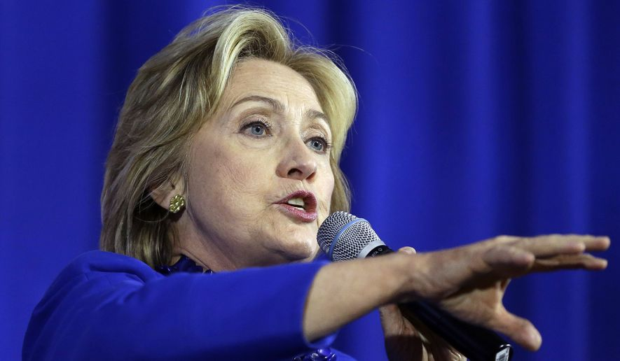 "Hillary Rodham Clinton called for expanded and stricter background checks, including prohibiting domestic abusers and stalkers from buying firearms, a ban on military-style weapons and a repeal of a 2005 law that she said grants firearms manufacturers and dealers ""immunity"" from lawsuits by victims of gun violence. (Associated Press)"