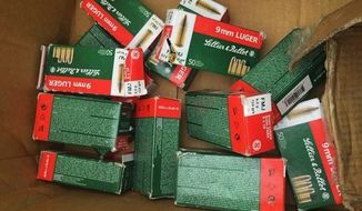 "Jasemin Stephenson, of Virginia Beach, was shocked to open up her son's delivery from Toys ""R"" Us to find 800 rounds of ammunition. (WVEC)"