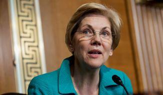 Sen. Elizabeth Warren, Massachusetts Democrat. (Associated Press) ** FILE **