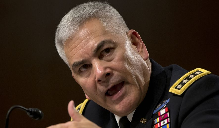 """Army Gen. John F. Campbell, the top commander in Afghanistan, told the Senate Armed Services Committee that """"much has changed"""" on the battlefield since President Obama announced the withdrawal timetable in 2014, including the rise of the Islamic State and al Qaeda, and a reinvigorated Taliban. (Associated Press)"""