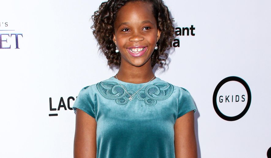 """FILE - In this July 29, 2015 file photo, Quvenzhane Wallis attends the LA Special Screening of """"Kahlil Gibran's The Prophet"""" in Los Angeles. Wallis, known for """"Beasts of the Southern Wild,"""" has a deal with Simon & Schuster Books for Young Readers for a chapter book series and a picture book. The publisher said Wednesday, Oct. 7, the series will have three chapter books; the first is scheduled for January 2017. The work is currently untitled. (Photo by John Salangsang/Invision/AP, File)"""
