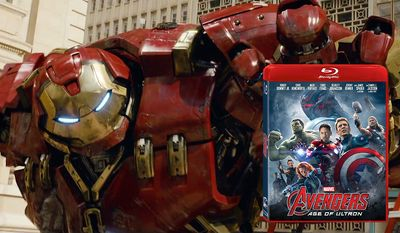 Tony Stark's Hulkbuster armor shines in Avengers: Age of Ultron now available on Blu-ray from Walt Disney Studios Home Entertainment.