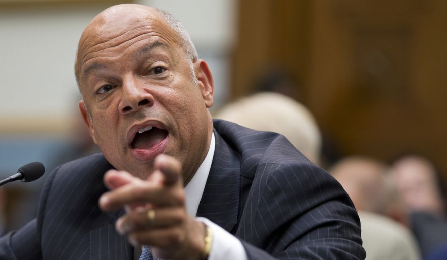 Homeland Security Secretary Jeh Johnson said only about 331,000 illegal immigrants were caught on the border in fiscal year 2015, which ended last week. That was the lowest number since 2011. When the numbers are finalized, they could dip to rates not seen since the early 1970s. (Associated Press)
