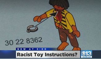 A California mom says her son's Playmobil toy came with racist instructions for a dark-skinned, slave-like figurine, and the NAACP is demanding answers. (CBS13 Sacramento)