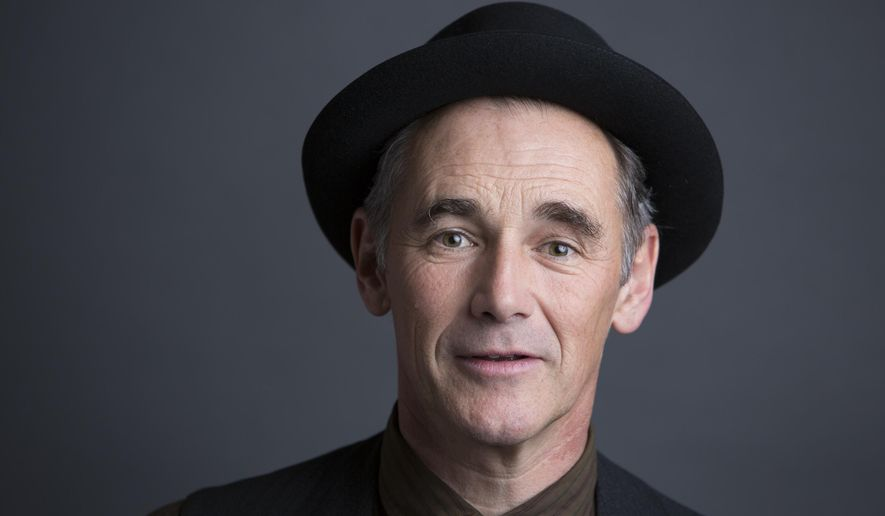 """In this Oct. 4, 2015 photo, Mark Rylance poses for a portrait to promote his film """"Bridge of Spies"""" in New York. (Photo by Amy Sussman/Invision/AP)"""