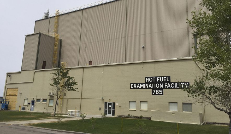 FILE - This May 11, 2015, file photo, shows an exterior view of the Hot Fuel Examination Facility at the Idaho National Laboratory, near Idaho Falls, Idaho. Mark Peters, the new director of Idaho's federal nuclear facility says he sees plenty of opportunity to make it the nation's premier energy security lab while also bolstering the region's economy.  (AP Photo/Keith Ridler, File )
