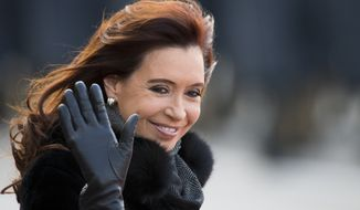 "Former Argentine President Cristina Fernandez shares with President Trump a penchant for resorting to Twitter to reject the ""mainstream media."" (Associated Press/File)"