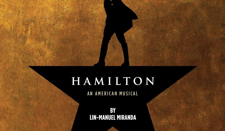 """This CD cover image released by Atlantic Records shows the Broadway cast album for """"Hamilton: An American Musical,"""" available on Oct. 16. (Atlantic Records via AP)"""