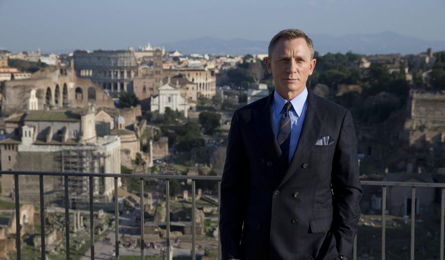 "Actor Daniel Craig poses during a photo call for the latest James Bond movie ""Spectre,"" in Rome, in this Wednesday, Feb. 18, 2015, file photo. (AP Photo/Andrew Medichini, File)"