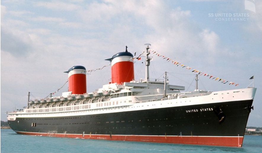 The historic SS United States could soon become scrap metal without some serious donations. (SSUSC)